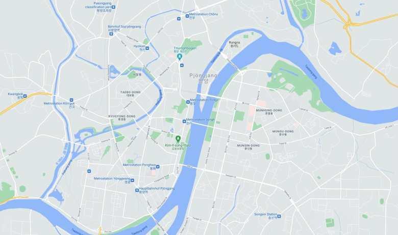 Pjongjang Google Maps