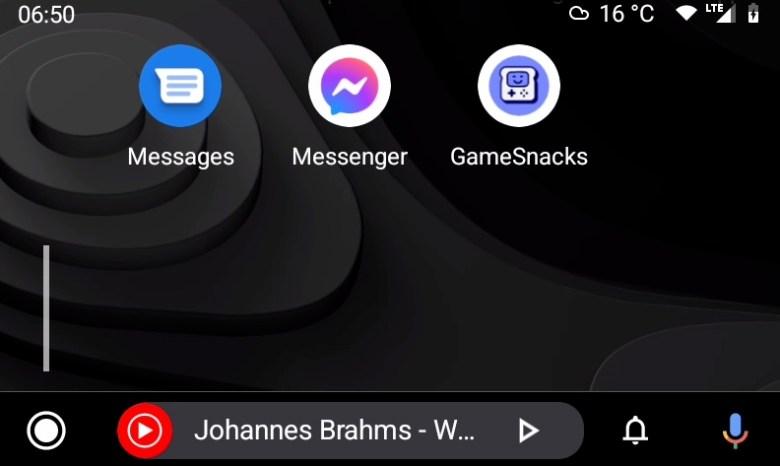 Android Auto 6.7 Beta Game Snacks 3