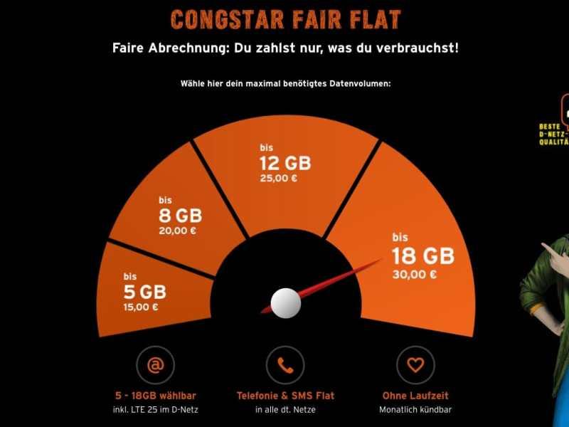 Congstar Fair Flat 18 Gb