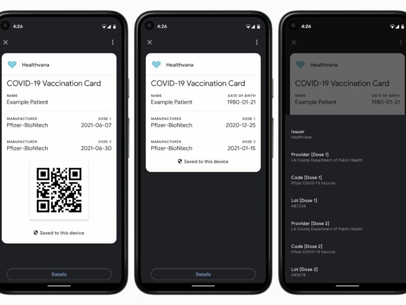 Covid Karte Android Google Pay