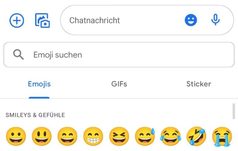 Google Messages Neuer Emoji Picker Juli 2021
