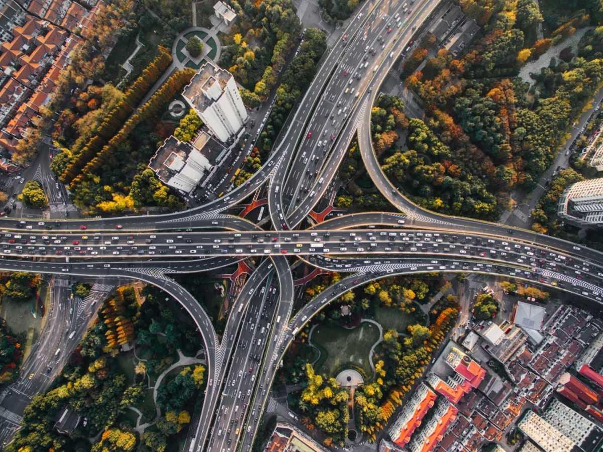Verkehr Autobahn Autos Head