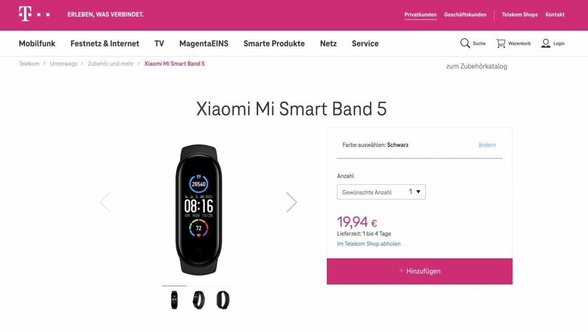 Xiaomi Mi Band 5 Telekom Angebot