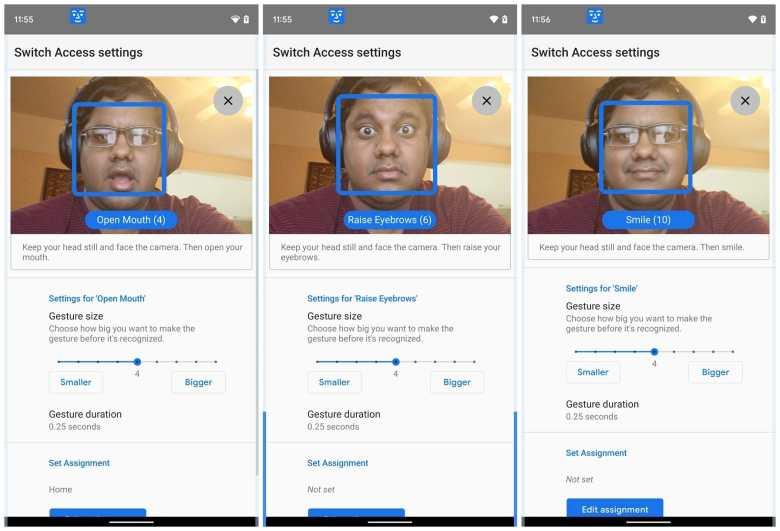 Gesichtsgesten Android Screenshots