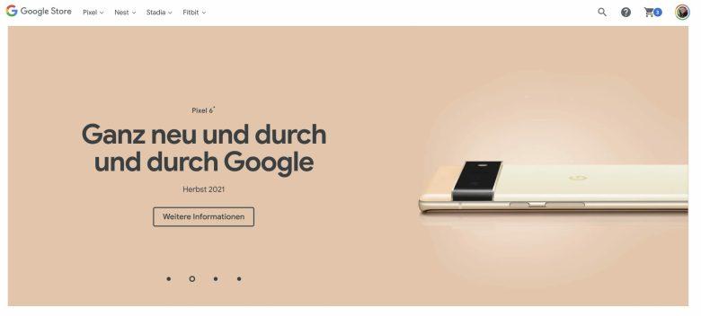 Google Pixel 6 Vorschau Google Store