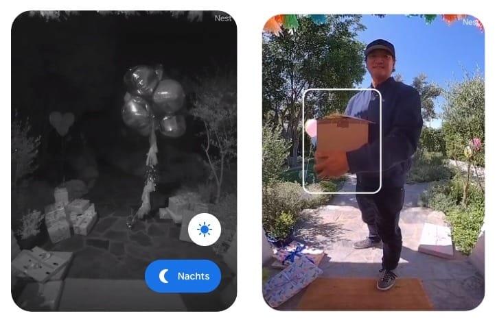 Paket Und Nachtmodus Nest Doorbell