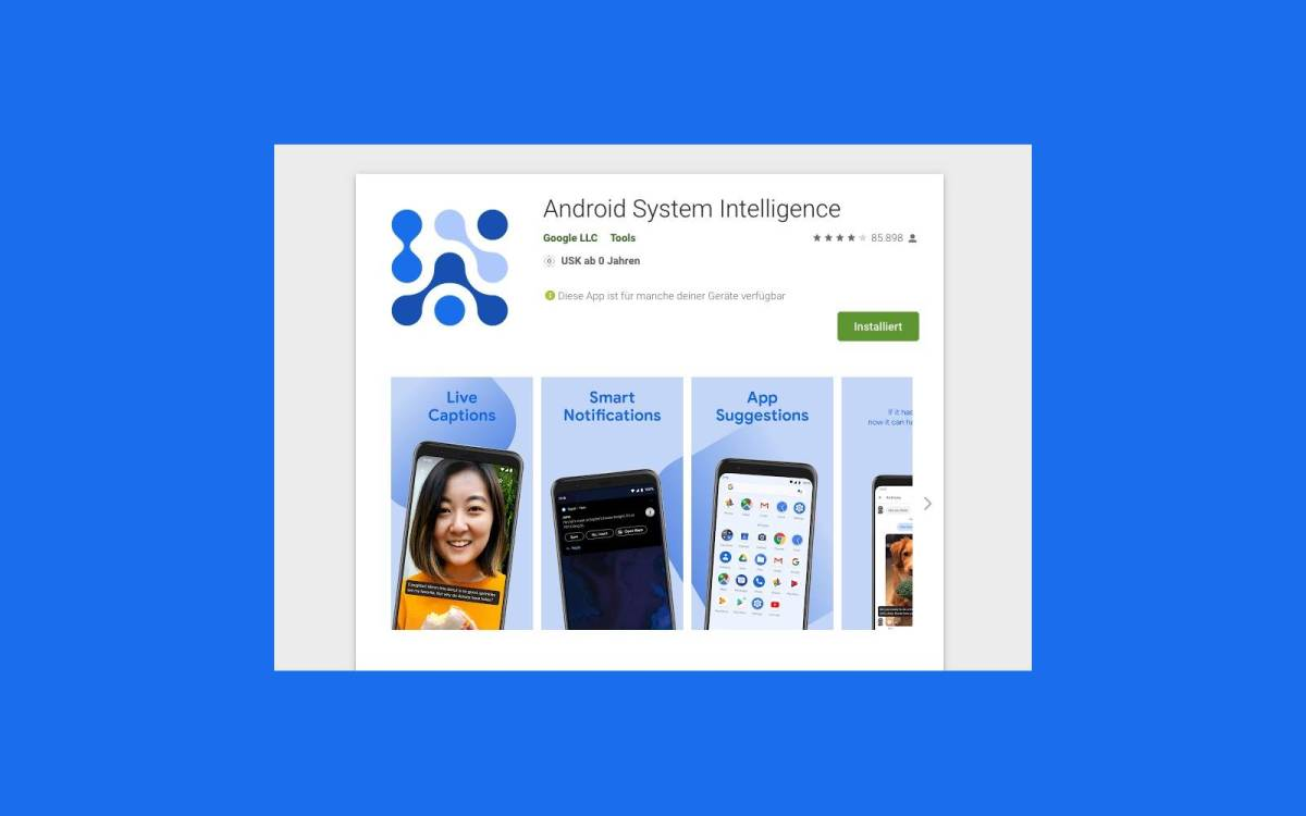 Android System Intelligence Play Store