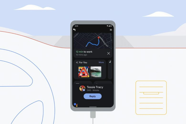 Google Assistant Driving Mode Head