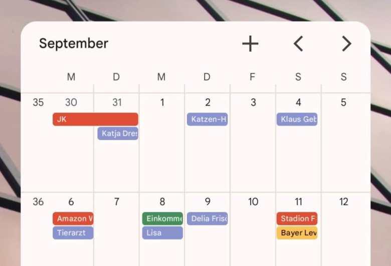 Google Kalender Material You Update