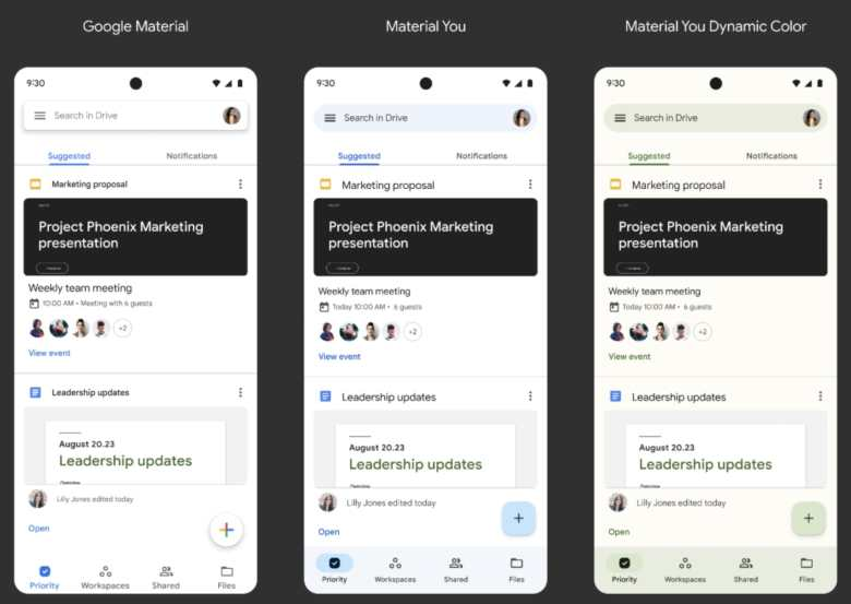 Google Workspace Apps Material You3