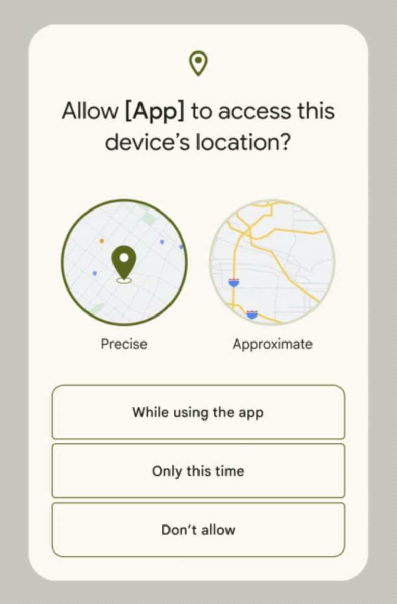 Standortfreigabe Apps Android 12