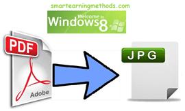 pdf to image on windows 8