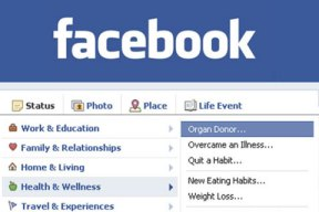 Facebook Organ Donation
