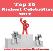 to p10 richest celebrities at random