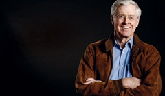 Chairman and CEO, Koch Industries  <strong>2004-08 Giving*</strong> $246 million  David Koch's older brother, Charles Koch focuses on libertarian causes, giving money for academic and public policy research and social welfare around strict conservative ideals. He co-founded the Cato Institute and contributes to groups such as the Institute for Humane Studies at George Mason University. Other recipients of Koch's charity include Florida State University, Mercatus Center at George Mason University, the Bill of Rights Institute, Big Brothers Big Sisters, Salvation Army, and Koch Cultural Trust (formerly Kansas Cultural Trust).  <cite>*Based on public records and interviews with donors Data: BusinessWeek, The Chronicle of Philanthropy and the Center on Philanthropy at Indiana University</cite>
