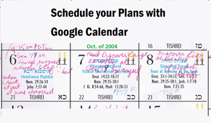 schedule your plans with Google Calendar