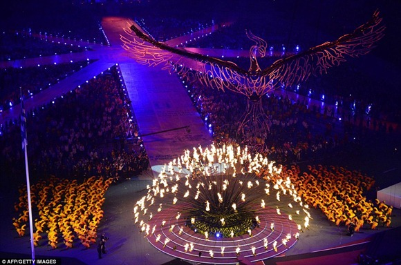 flames got weaker in closing ceremony