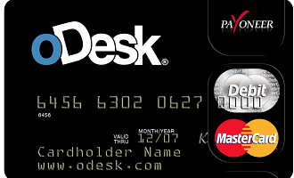 oDesk issued Payoneer MasterCard
