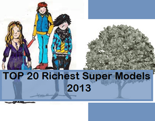 20 richest supermodels in 2013
