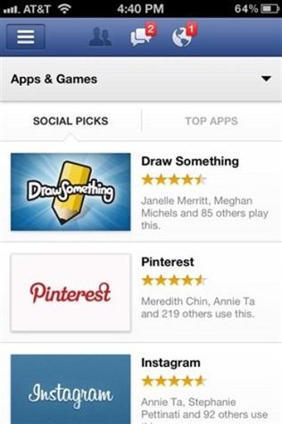 2012-facebook's App center