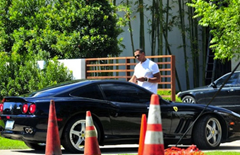 Alex Rodriguez loves his 575M Maranello