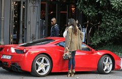 Mario Balotelli drives 458 Italia