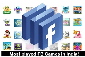 most played facebook games in India