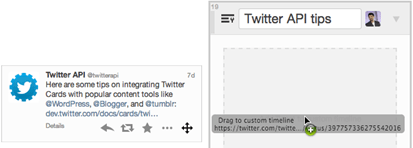 chose-drag and drop the noteworthy tweets