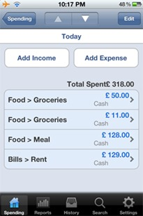 spending tracker for iphone