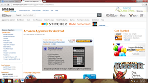 Amazon Appstore platform to sell mobile apps on
