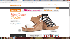 Shoes.com websites to buy footwear on