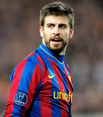 Gerard Piqué  popular social media footballer