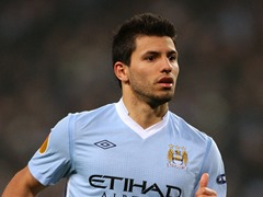 Sergio Agüero popular social media footballer