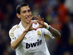 Ángel di María popular social media footballer