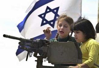 Israeli kids bombarding Palestine