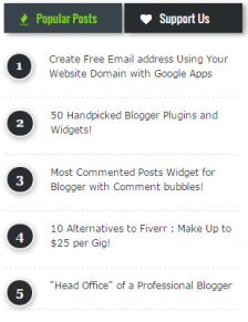 popular post widget on blogs