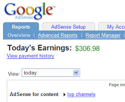 Lie about Google adsense earning
