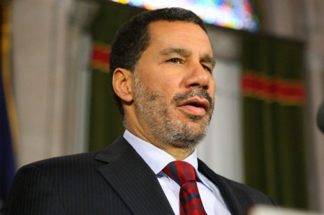 ALBANY, NY - MARCH 13:   New York Lieutenant Governor David Paterson speaks to members of the media at the state Capitol March 13, 2008 in Albany, New York.  David Paterson will become New York's Governor on Monday following Gov. Eliot Spitzer's resignation in result of being tied to a prostitution ring. (Photo by Daniel Barry/Getty Images)