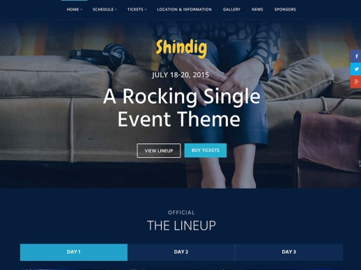 shindig wordpress themes