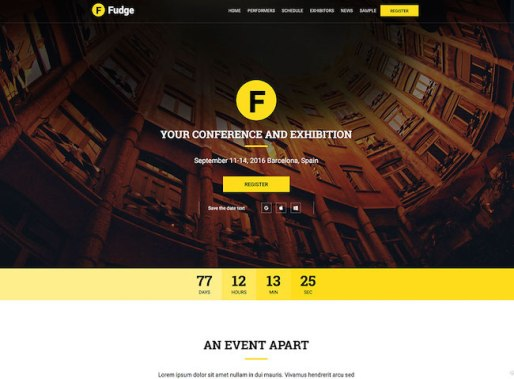 Fudge wordpress themes