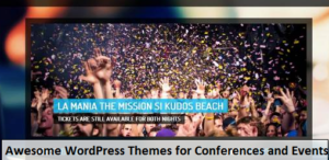 Awesome WordPress Themes for Conferences and Events