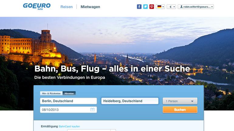 Smarter Service: GoEuro erspart Reisenden langes Suchen