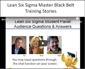 Lean Six Sigma Master Black Belt Training and Certification Past Student Stories