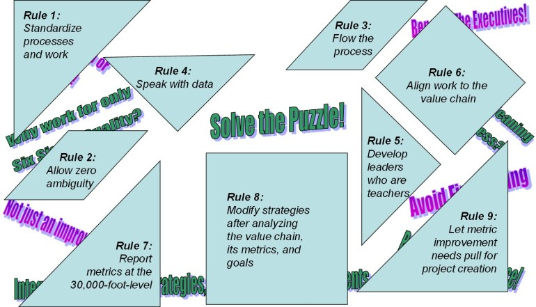 Lean Six Sigma Master Black Belt Training and Certification -- Need to put the puzzle pieces together