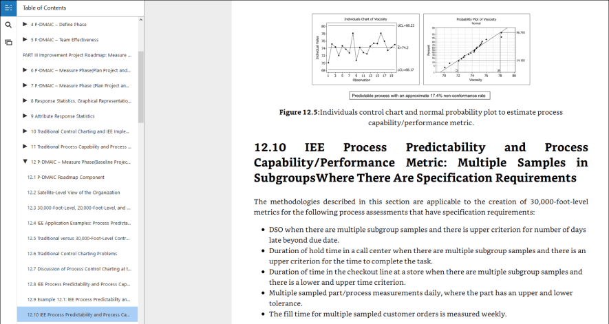 process capability analysis, 30,000-foot-level report
