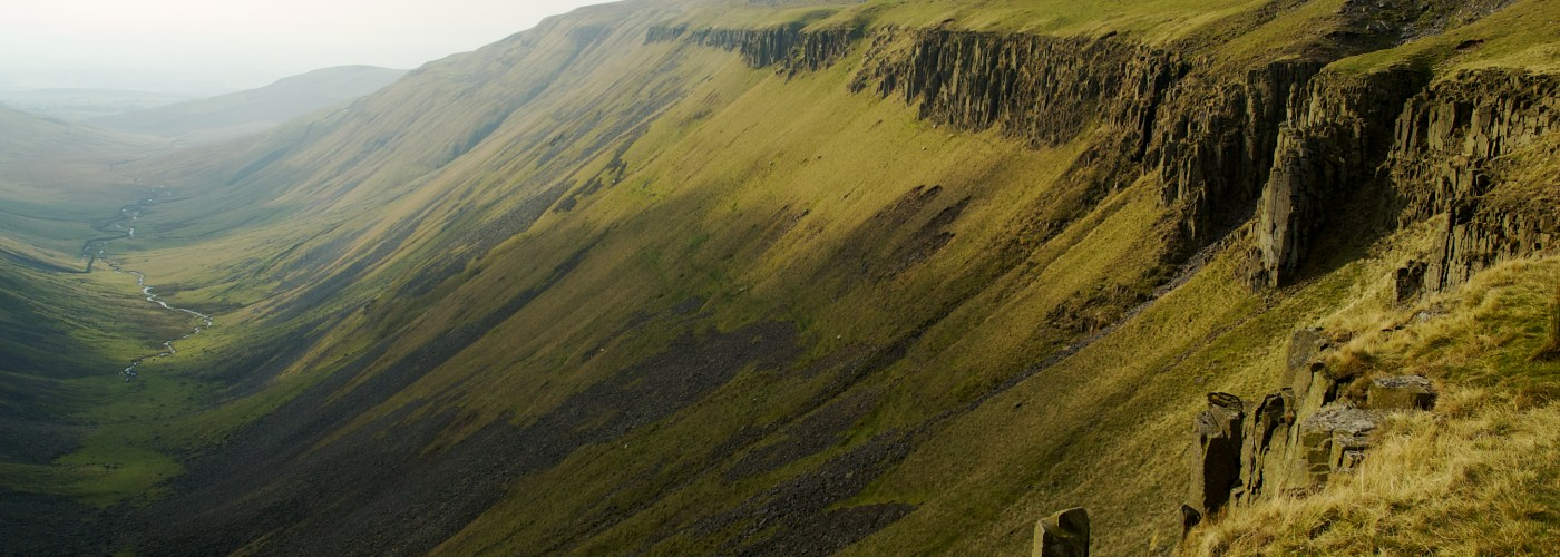 The dramatic landscape of High Cup Nick, Cumbria, England