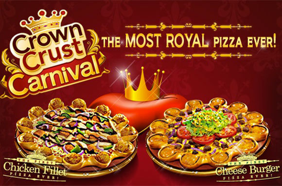 Cheese Burger Crown Crust Pizza, Pizza Hut, Middle East