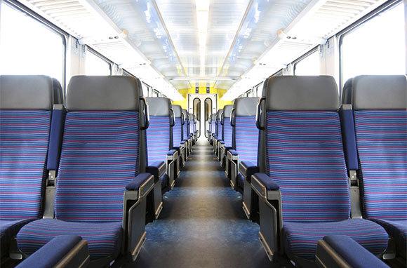 Ride in Empty Train Compartments