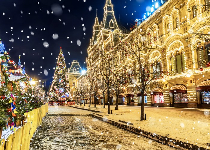 moscow christmas decorations street