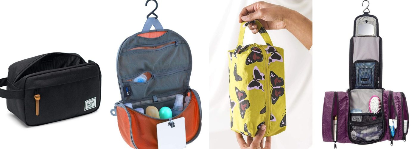 toiletry bags product stills